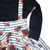Christmas Floral suspender skirt