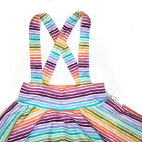 Rainbow Stripe suspender skirt