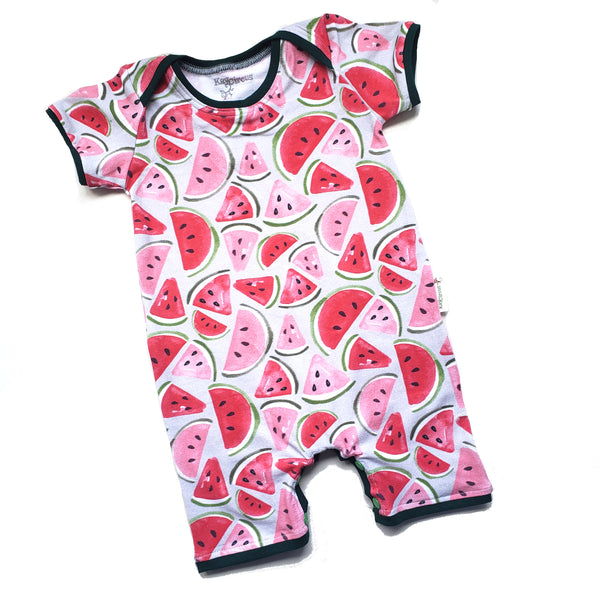 Watermelon Baby Toddler Summer Shorts Romper