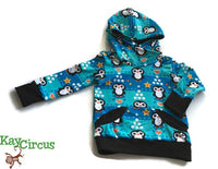 Penquin Hoodie Size 18-24 months RTS