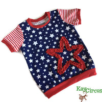 Stars and Stripes 12-18 month shirt RTS