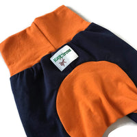Mix and Match Monster Bunz Shorts - Orange and Blue 3-18 months