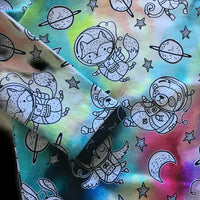 Animals in Space Ringer Tee shirt