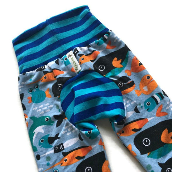 Under the Sea Monster Bunz Pants - Size 0-6 months RTS