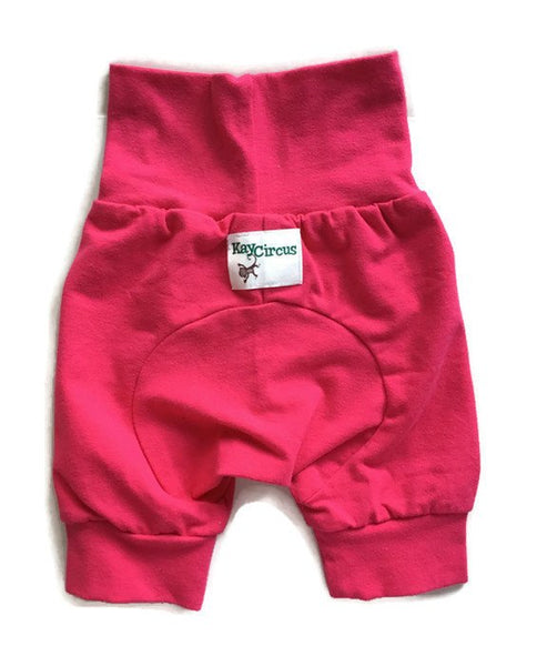 Hot Pink Monster Bunz Shorts size 3-18 months