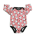 Panda Bodysuit Size 3 months, Long sleeves RTS