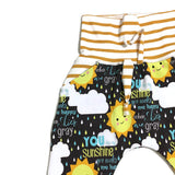 You are my Sunshine grow with me harem pants -  size 3-12 months RTS