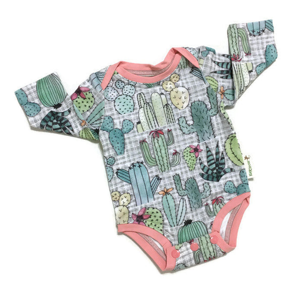 Cactus Baby Bodysuit Size 3 months Long sleeved RTS