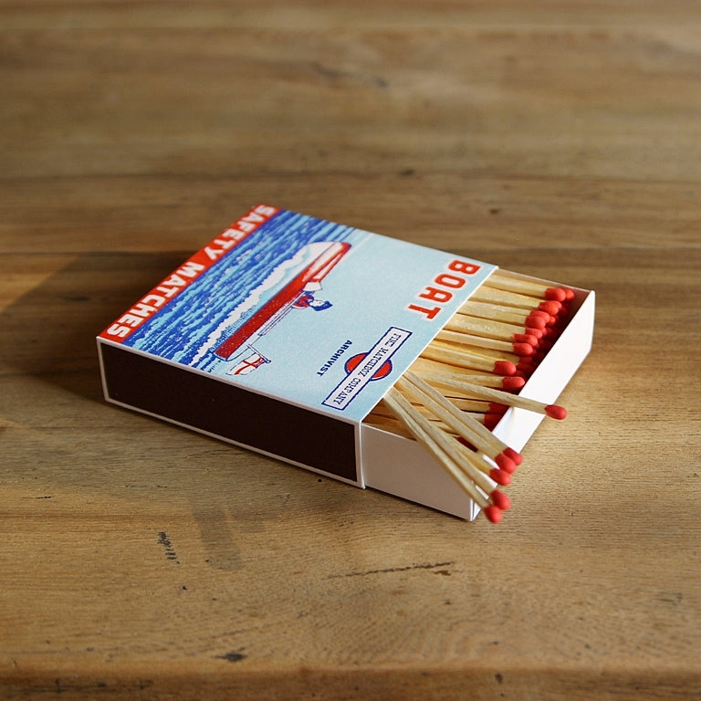 Letterpress Matchbox - Boat