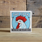 Letterpress Matchbox - The Cock