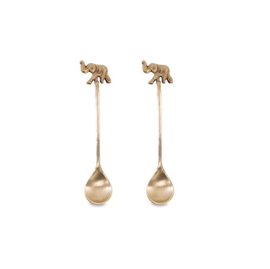 Elephant Brass Spoons (Set of 2)