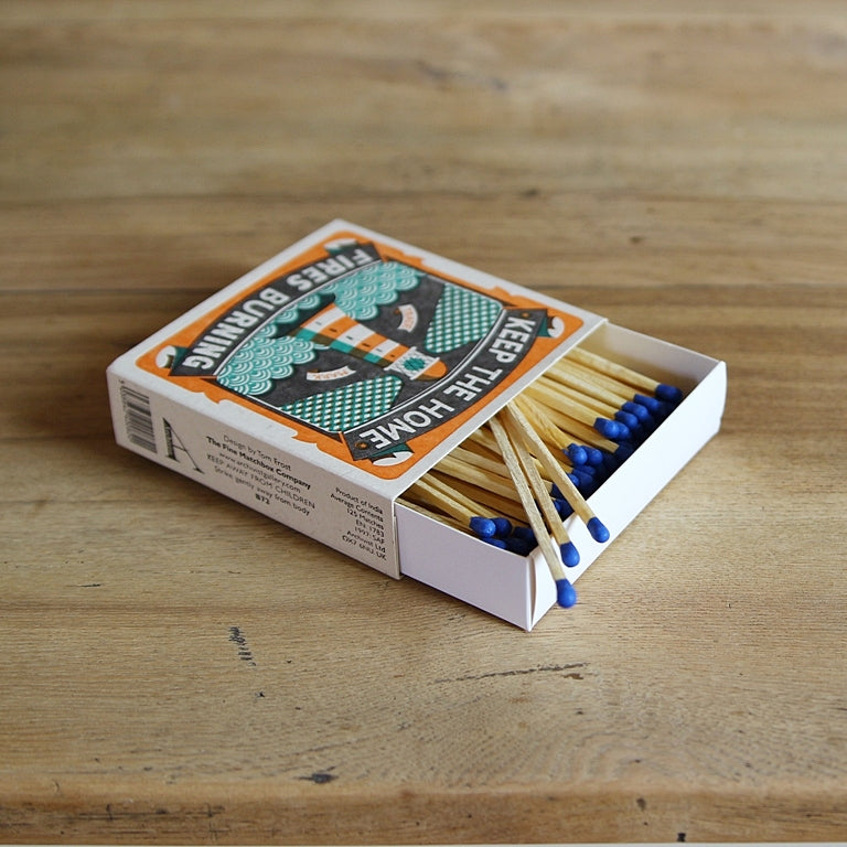 Letterpress Matchbox - Home Fires