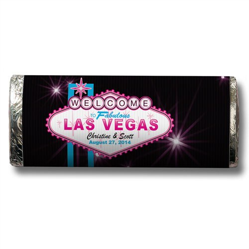 Fabulous Las Vegas Personalized Chocolate Candy Bar Wedding Favor  -Personaliztion & Shipping Included - SIMPLY CHIC WEDDING STORE