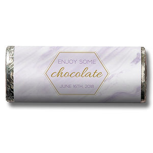 Mod Marble Personalized Chocolate Candy Bar Wedding Favor  -Personaliztion & Shipping Included - SIMPLY CHIC WEDDING STORE