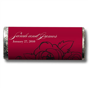 Valentine Wedding Chocolate Personalized Candy Bar Wedding Favor  -Personaliztion & Shipping Included - SIMPLY CHIC WEDDING STORE