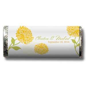 Spring Romance Personalized Chocolate Candy Bar Wedding Favor  -Personaliztion & Shipping Included - SIMPLY CHIC WEDDING STORE