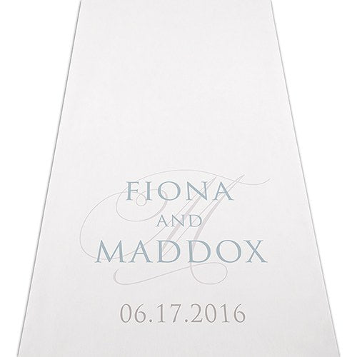 Vintage Inspired Personalized Wedding Ceremony Aisle Runner -Personalization & Shipping Included - SIMPLY CHIC WEDDING STORE