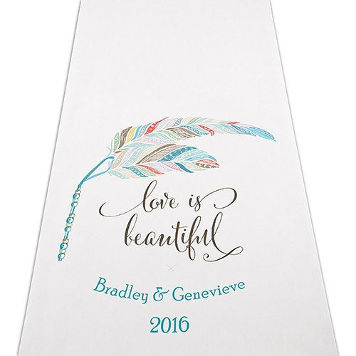 Boho Chic Wedding Ceremony Aisle Runner -Personalization & Shipping Included - SIMPLY CHIC WEDDING STORE