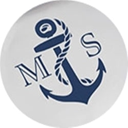 Nautical Anchor Glass Wedding Coaster Set of 12 - Personalization & Shipping Included - SIMPLY CHIC WEDDING STORE