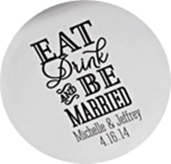 Eat, Drink Be Married Wedding Coaster Set of 12 - Personalization & Shipping Included - SIMPLY CHIC WEDDING STORE