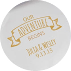 Our Adventure Begins Wedding Coaster Set of 12 - Personalization & Shipping Included - SIMPLY CHIC WEDDING STORE