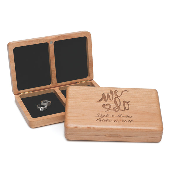 Simply Chic Wedding We Do Rustic Wooden Ring Box -Personalization & Shipping Included - SIMPLY CHIC WEDDING STORE