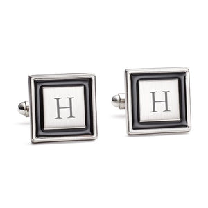 Simply Chic Wedding - Wedding Day Groom Initial Cufflinks