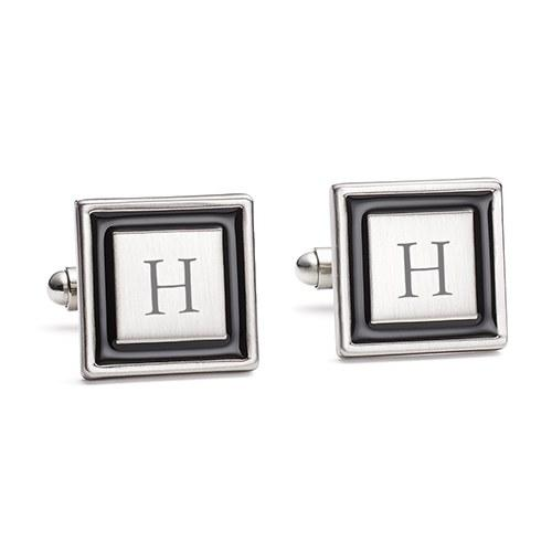 Simply Chic Wedding - Wedding Day Groomsmen Initial Cufflinks - Shipping Included - SIMPLY CHIC WEDDING STORE