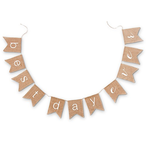 Best Day Ever Burlap Chic Wedding Bunting - Shipping Included - SIMPLY CHIC WEDDING STORE