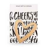 Simply Chic Wedding Modern Gold Heart Bottle Opener Wedding Favor -Shipping Included - SIMPLY CHIC WEDDING STORE
