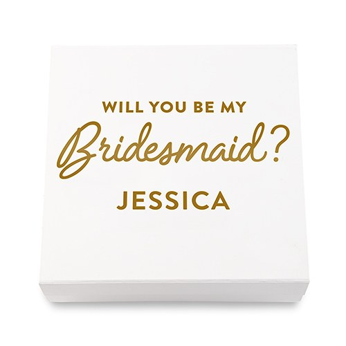 Simply Chic Wedding Personalized Bridesmaid Gift Box - Shipping Included