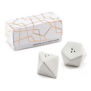 Simply Chic Wedding Modern Geometric Salt And Pepper Shaker Favors -Shipping Included - SIMPLY CHIC WEDDING STORE
