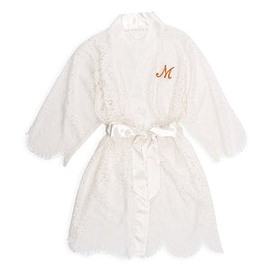 Wedding Day Bride Embroidered Kimono Robe - Shipping Included - SIMPLY CHIC WEDDING STORE