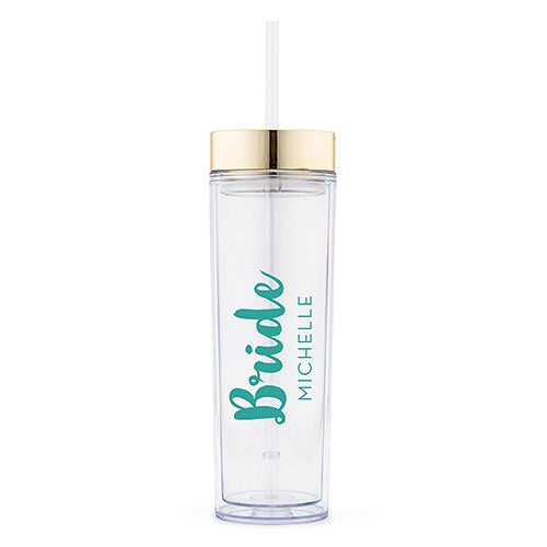 Simply Chic Wedding - Personalized Bride Beverage Tumbler - Shipping Included - SIMPLY CHIC WEDDING STORE