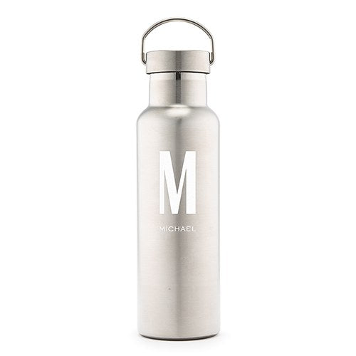 Simply Chic Wedding - Stainless Steel Groom 25 oz. Water Bottle - Shipping Included