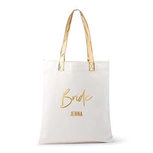 Simply Chic Wedding -Personalized Bride Canvas Tote Bag -Shipping Included - SIMPLY CHIC WEDDING STORE