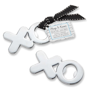 Simply Chic Wedding Silver XO Bottle Opener Wedding Favor -Shipping Included - SIMPLY CHIC WEDDING STORE