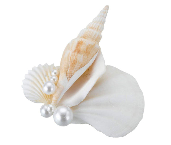 Simply Chic Wedding Beach Seashell Boutonniere - Shipping Included