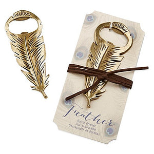Simply Chic Wedding Boho Chic Feather Bottle Opener Wedding Favor -Shipping Included - SIMPLY CHIC WEDDING STORE