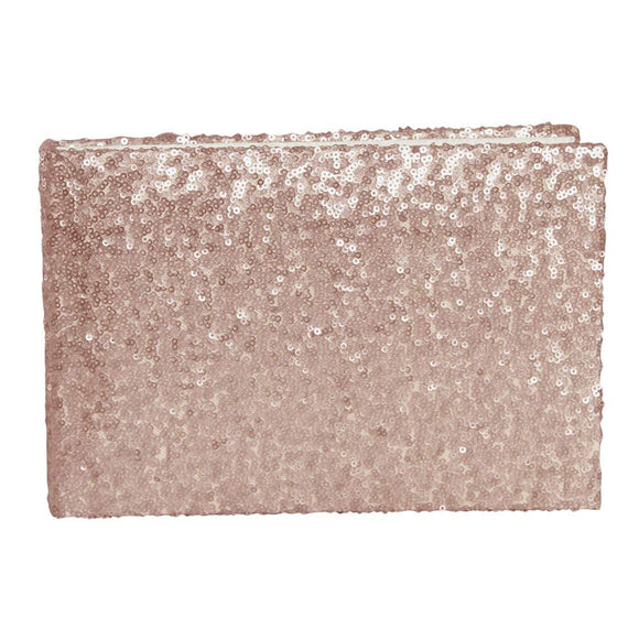 Sequin And Blush Glam Wedding Guest Book -Shipping Included - SIMPLY CHIC WEDDING STORE