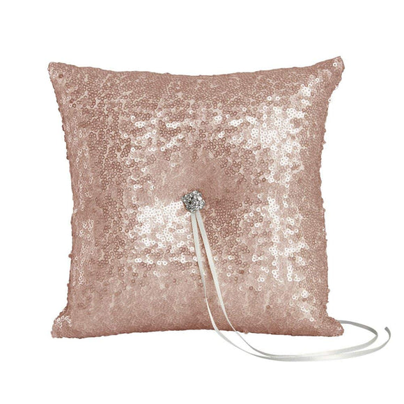 Sequin And Blush Glam Wedding Ceremony Ring Pillow - Shipping Included - SIMPLY CHIC WEDDING STORE