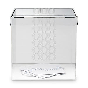 Modern Acrylic Wedding Reception Card Box -Shipping Included - SIMPLY CHIC WEDDING STORE