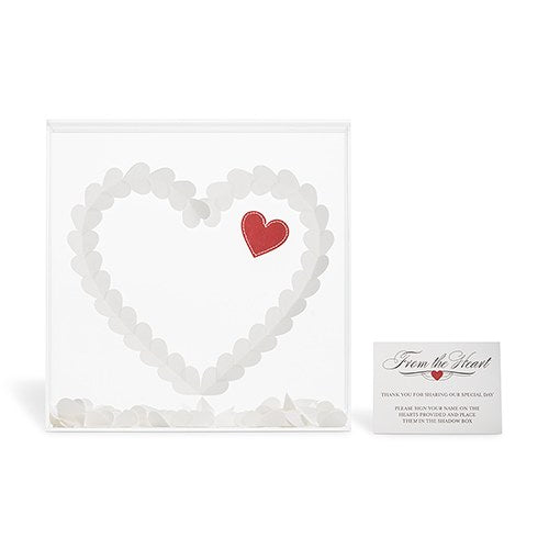 Love Hearts Acrylic Shadow Box Guest Book Alternative -Personalization & Shipping Included - SIMPLY CHIC WEDDING STORE