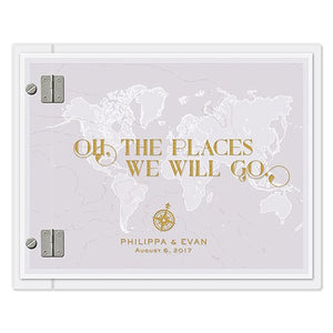 Oh The Places We Will Go Personalized Wedding Guest Book Alternative -Shipping Included - SIMPLY CHIC WEDDING STORE