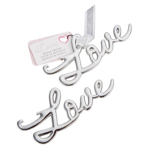 Simply Chic Wedding Silver Love Bottle Opener Wedding Favor -Shipping Included - SIMPLY CHIC WEDDING STORE