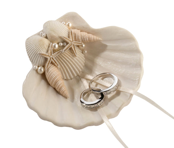 Simply Chic Wedding Seashell Wedding Ring Holder -Shipping Included - SIMPLY CHIC WEDDING STORE