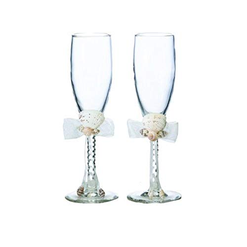 Simply Chic Wedding Beach Wedding Champagne Toasting Flutes -Shipping Included - SIMPLY CHIC WEDDING STORE