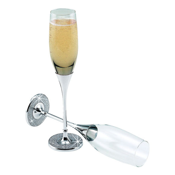 Simply Chic Wedding Bling Champagne Toasting Flutes -Shipping Included - SIMPLY CHIC WEDDING STORE