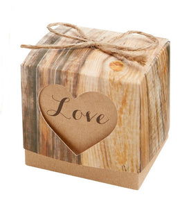 Simply Chic Wedding Rustic Love Favor Box Set of 24 -Shipping Included - SIMPLY CHIC WEDDING STORE