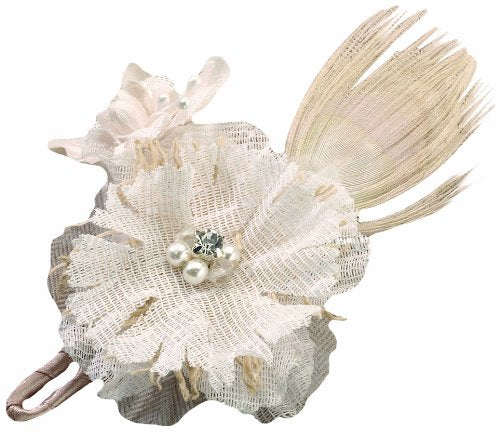 Simply Chic Wedding Burlap Chic Boutonnière- Shipping Included - SIMPLY CHIC WEDDING STORE